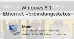 Windows 8.1 Ethernet-Verbindungsstatus