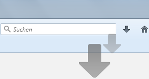 Firefox Download Pfeil Animation nach dem Start