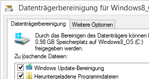 Windows 8.1 Datenträgerbereinigung