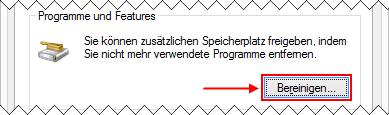Windows 8.1 Datenträgerbereinigung: Programme und Funktionen entfernen