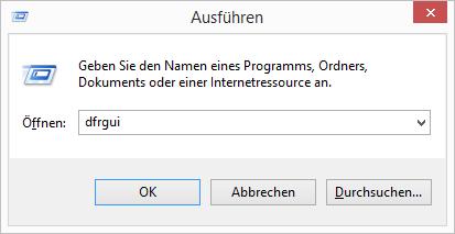 Windows 8.1 Defragmentierung aufrufen