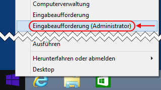 Windows 8.1 Eingabeaufforderung (Administrator)