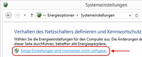 Windows 8.1 Energieoptionen: Schnellstart-Einstellungen aktivieren