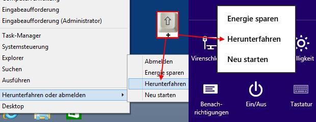 Windows 8.1 mit Schnellstart komplett herunterfahren
