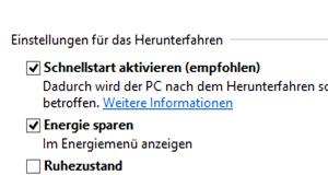 Windows 8.1 Schnellstart Hybridmodus Hybridboot