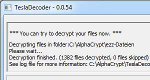 Trojaner Alpha Crypt: .ezz-Dateien mit TeslaDecoder entschlüssen