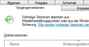Windows 7: Dateien und Ordner wiederherstellen