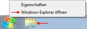 Windows 7 Windows-Explorer öffnen