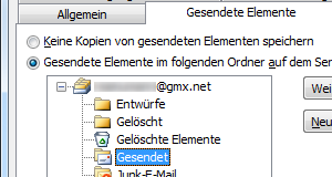 GMX IMAP-Ordner in Outlook 2010 zuweisen