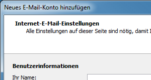 Outlook 2007 E-Mail-Konto einrichten