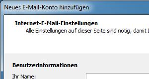 Outlook 2007 E-Mail-Konto einrichten