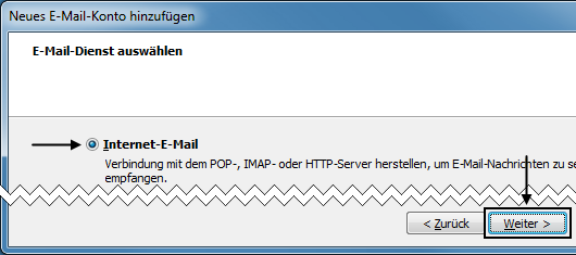 Outlook 2007 Neues E-Mail-Konto hinzufügen