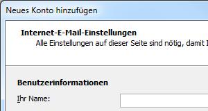 Outlook 2010 E-Mail-Konto mit POP3 einrichten
