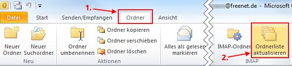 Outlook 2010 IMAP-Ordner synchronisieren