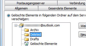 Outlook.com IMAP-Ordner in Outlook 2010 zuweisen