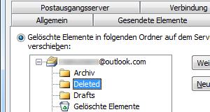 Outlook.com IMAP-Ordner in Outlook 2010 zuweisen