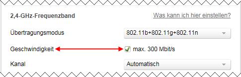 Speedport W 724V WLAN 2,4 GHz Geschwindigkeit
