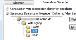 T-Online IMAP-Ordner in Outlook 2010 zuweisen