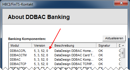 Homebanking Kontakte DDBAC Version
