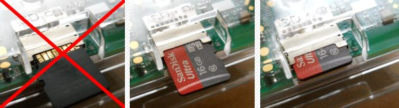 MicroSD-Karte in Raspberry Pi 3 einlegen