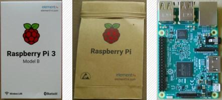 Raspberry Pi 3 auspacken