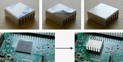 Raspberry Pi 3 Kühlkörper aufkleben